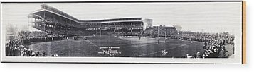 University Of Pittsburgh Vs W And J College Forbes Field Pittsburgh Pa 1915 Wood Print by Bill Cannon