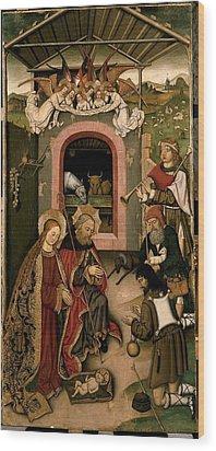 Unknown, Crib Altarpiece, 15th Century Wood Print by Everett