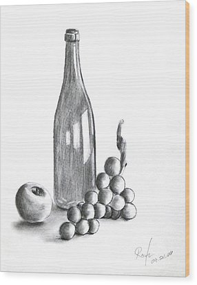 Untitled Still Life Wood Print by RB McGrath
