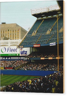 Upper Deck  The Yankee Stadium Wood Print by Iconic Images Art Gallery David Pucciarelli