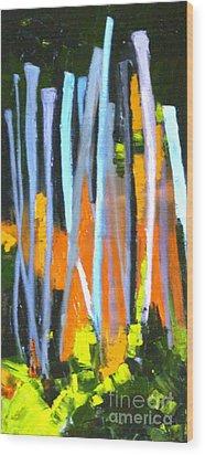 Urban Reach Wood Print by Susan A Becker