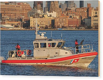 U.s. Coast Guard - Always Ready Wood Print by Paul Ward