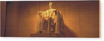 Usa, Washington Dc, Lincoln Memorial Wood Print by Panoramic Images