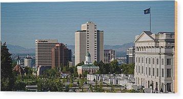 Utah State Capitol Building, Salt Lake Wood Print by Panoramic Images