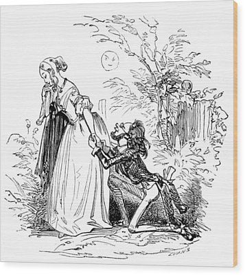 Wood Print featuring the photograph Valentines Day, 1855 by British Library