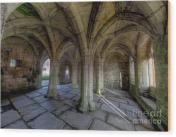 Valle Crucis Chapter House  Wood Print by Adrian Evans