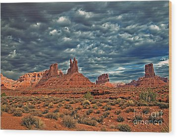 Valley Of The Gods Wood Print by Robert Bales