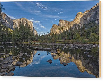 Valley View I Wood Print by Peter Tellone