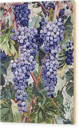 Valley Vines Wood Print by Gael Graysen
