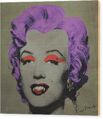 Vampire Marilyn Variant 3 Wood Print by Filippo B