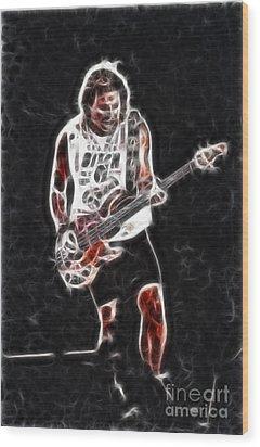 Van Halen-93-mike-gc23-fractal Wood Print by Gary Gingrich Galleries