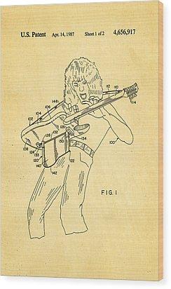 Van Halen Instrument Support Patent Art 1987 Wood Print by Ian Monk