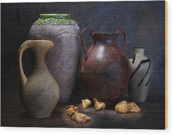 Vases And Urns Still Life Wood Print by Tom Mc Nemar