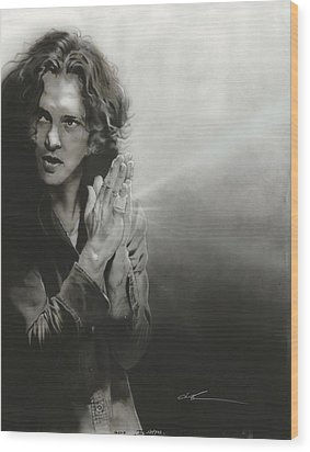 Eddie Vedder - ' Vedder Iv ' Wood Print by Christian Chapman Art