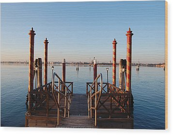 Venice  Wood Print by C Lythgo