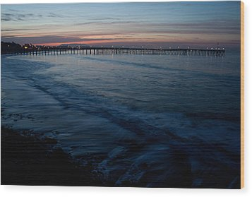 Ventura Pier Sunrise Wood Print by John Daly