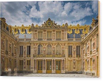 Versailles Courtyard Wood Print by Inge Johnsson