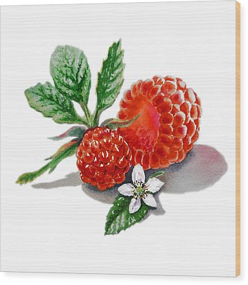 Artz Vitamins A Very Happy Raspberry Wood Print by Irina Sztukowski
