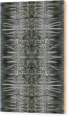 Vibrations Wood Print by Dawn J Benko