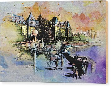 Victoria Art Wood Print by Catf