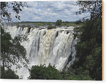 Victoria Falls View  Wood Print by Aidan Moran