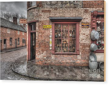 Victorian Corner Shop Wood Print by Adrian Evans