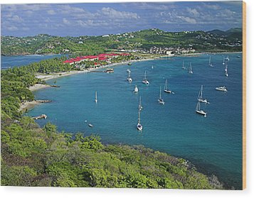 View From Fort Rodney-st Lucia Wood Print by Chester Williams