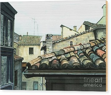View From The Top Wood Print by Barbara Jewell