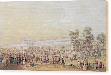 View Of The Crystal Palace Wood Print by George Baxter