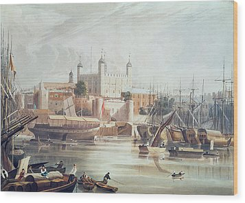 View Of The Tower Of London Wood Print by John Gendall
