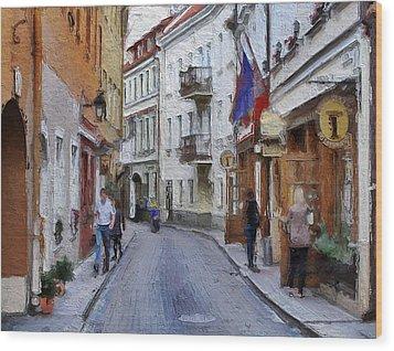 Vilnius Old Town 37 Wood Print by Yury Malkov