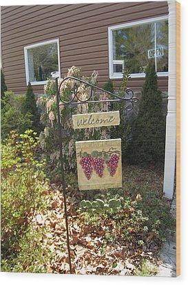 Vineyards In Va - 121260 Wood Print by DC Photographer
