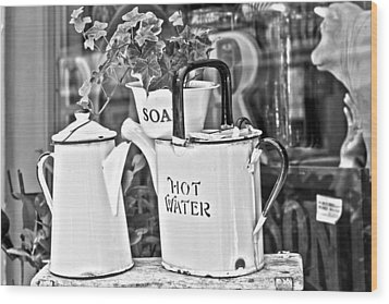 Vintage Jugs Wood Print by Georgia Fowler
