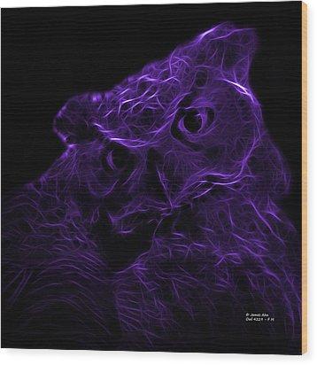 Violet Owl 4229 - F M Wood Print by James Ahn