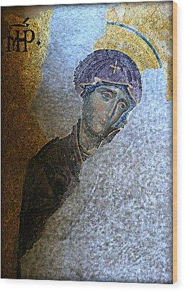 Virgin Mary Wood Print by Stephen Stookey