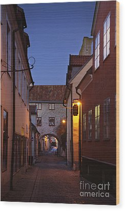 Visby Evening  Wood Print by Ladi  Kirn