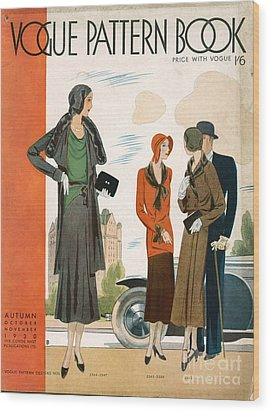 Vogue Pattern Book Cover 1930 1930s Uk Wood Print by The Advertising Archives