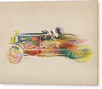 Volkswagen Wood Print by Mark Ashkenazi