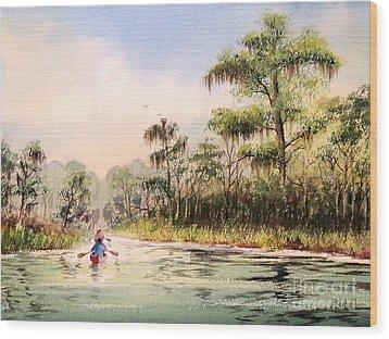 Wacissa River  Wood Print by Bill Holkham