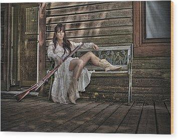 Waiting Wood Print by Naman Imagery