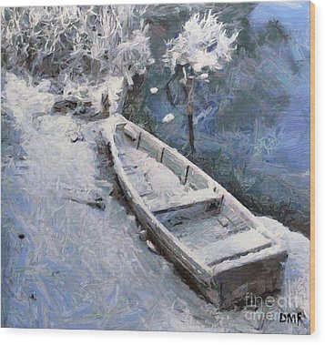 Waiting For A Spring Wood Print by Dragica  Micki Fortuna