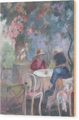 Waiting For Tea Wood Print by Susan Richardson