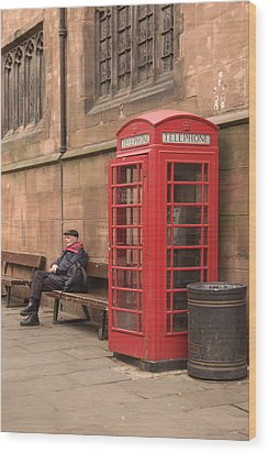 Waiting On A Call Wood Print by Mike McGlothlen