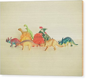 Walking With Dinosaurs Wood Print by Cassia Beck
