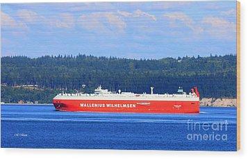 Wallenius Wilhelmsen Logistics Tamerlane Ship Wood Print by Tap On Photo