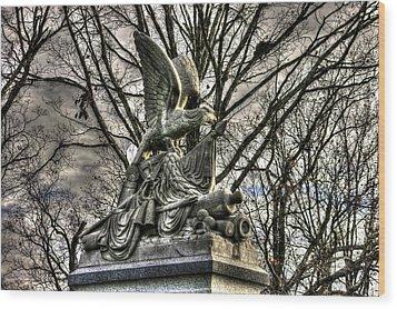 War Eagles - 88th Pa Volunteer Infantry Cameron Light Guard-d1 Oak Hill Autumn Gettysburg Wood Print by Michael Mazaika