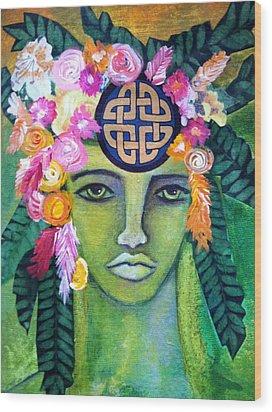 Warrior Goddess Wood Print by Tracie Hanson