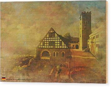Wartburg Castle Wood Print by Catf