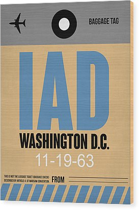 Washington D.c. Airport Poster 3 Wood Print by Naxart Studio