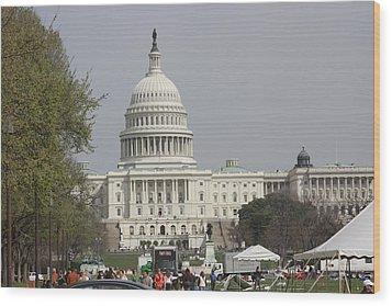 Washington Dc - Us Capitol - 01134 Wood Print by DC Photographer